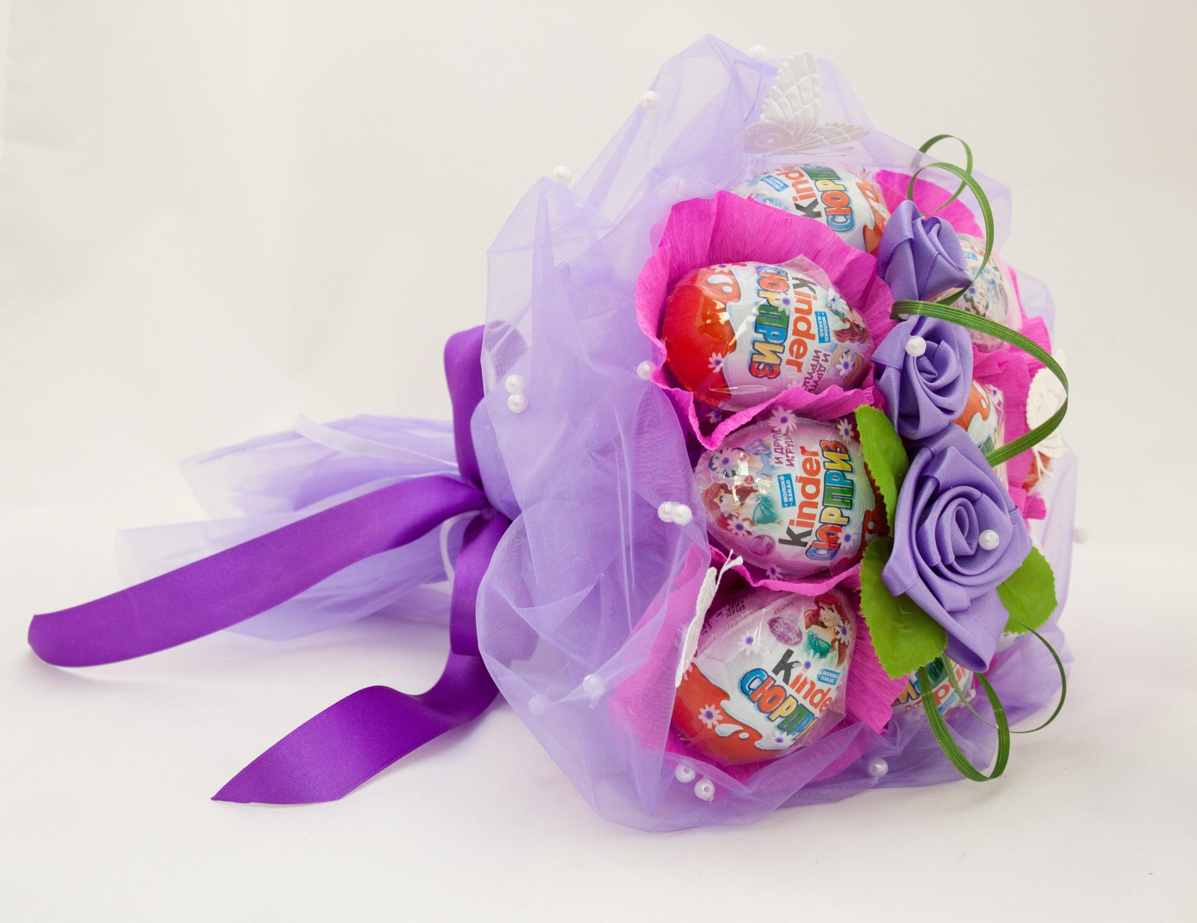 Детский букеты из конфет своими руками, букет