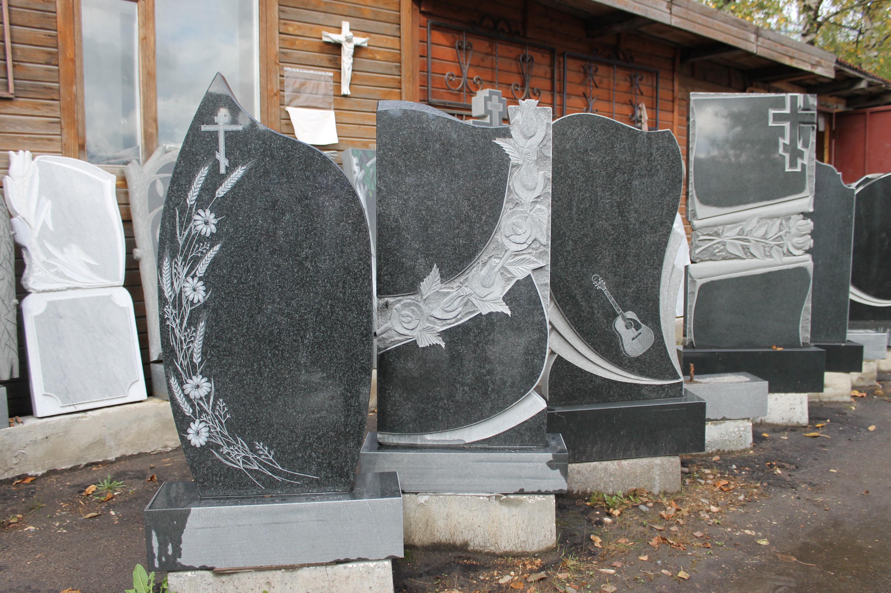 Памятник из гранита Рыбинск Мемориальный комплекс с арками и колонной Гороховец