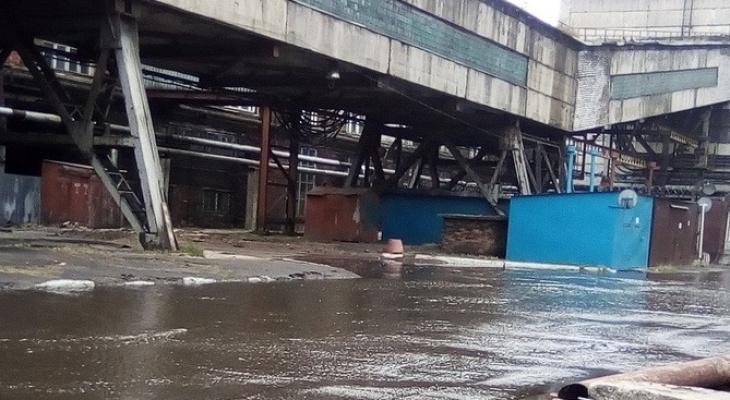 В Ярославле затопило крупный завод: кадры