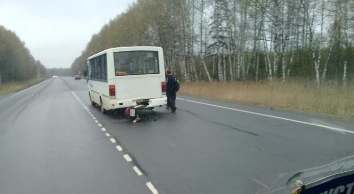 Байкер врезался в автобус на открытии мотосезона в Ярославле
