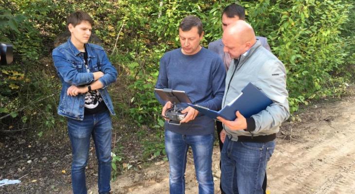 В Ярославской области с квадрокоптера проверили правила добычи полезных ископаемых