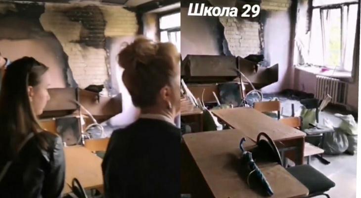 Рюкзачки на обугленных партах: подробности пожара в школе Ярославля