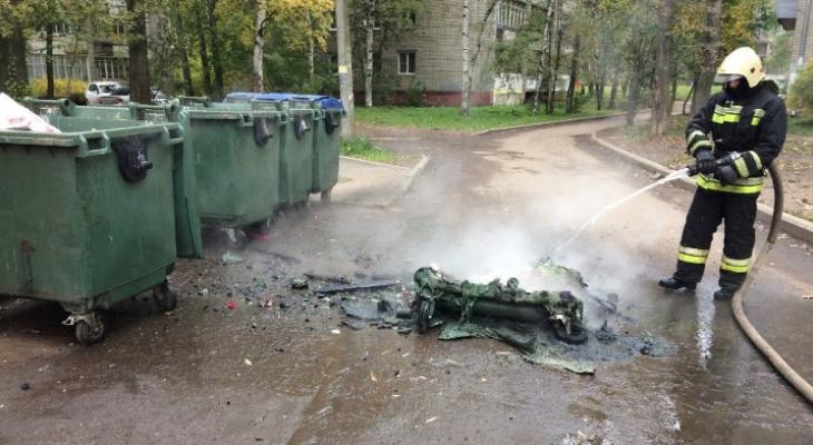 Страшная вонь по всему городу: ярославцы массово сжигают мусорные баки