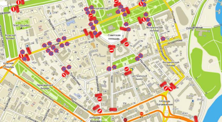 Только пешком: в Ярославле перекроют центр