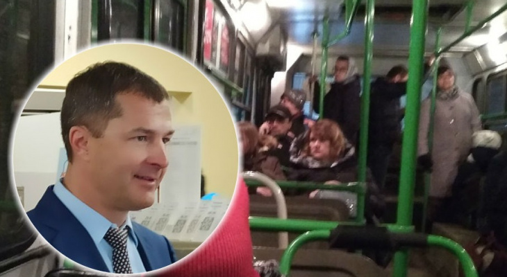 """""""В час пик - восемь человек"""": мэр Волков о своей поездке в троллейбусе 8 и судьбе маршрута"""