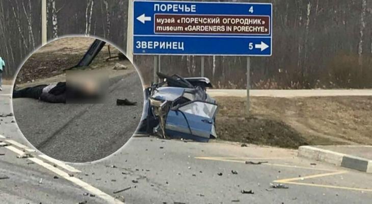 Тело выбросило из машины: смертельное ДТП под Ярославлем. Видео