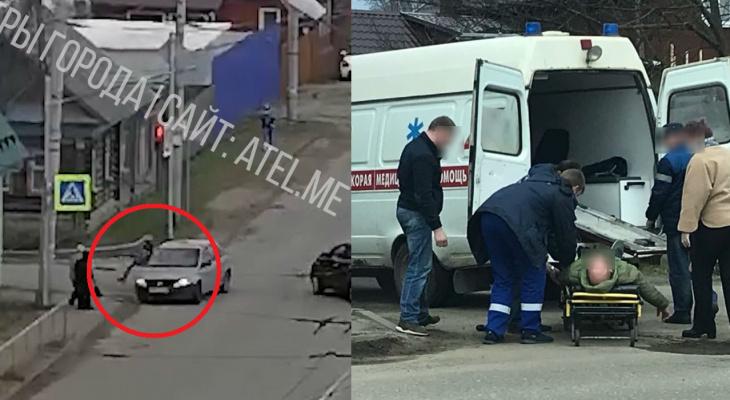 Остолбенели от страха:  авария с пешеходом в Рыбинске попала на видео