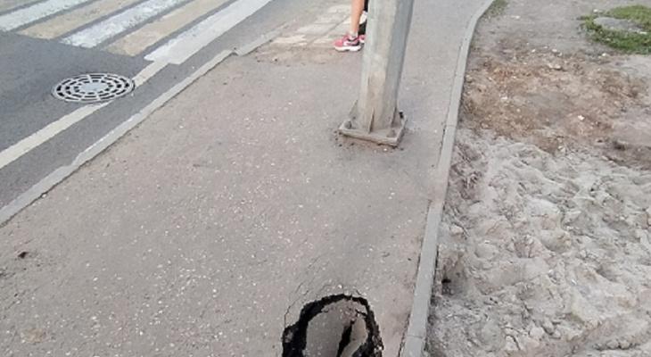 """""""Метеорит упал"""": портал в травмпункт образовался на дороге в Брагино"""