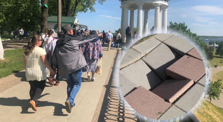 Плитка отваливается от ветра: ярославцы возмущены состоянием Стрелки