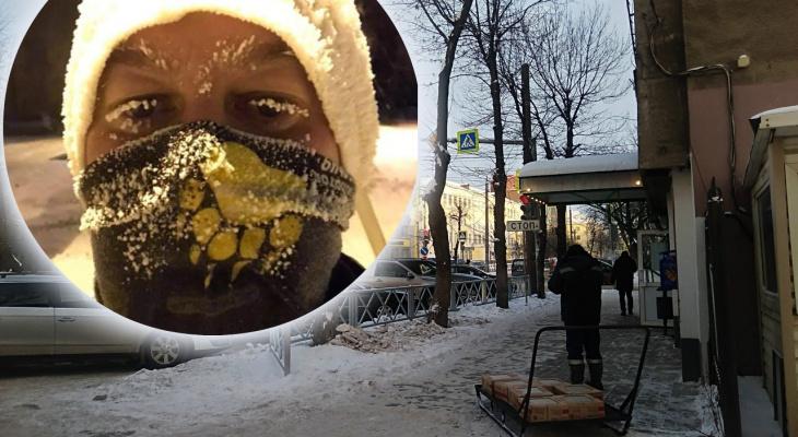 Аварии и белые ресницы: ярославцы рассказали о ЧП в первый день морозов