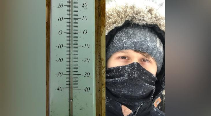 Самый морозный день: ярославцы засняли аномальные температуры