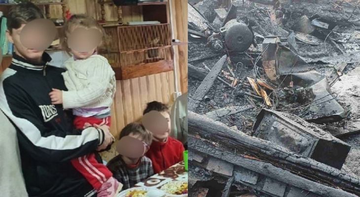 """""""Дом вспыхнул, как спичка"""": под Ярославлем в семье с 11 детьми случился пожар"""