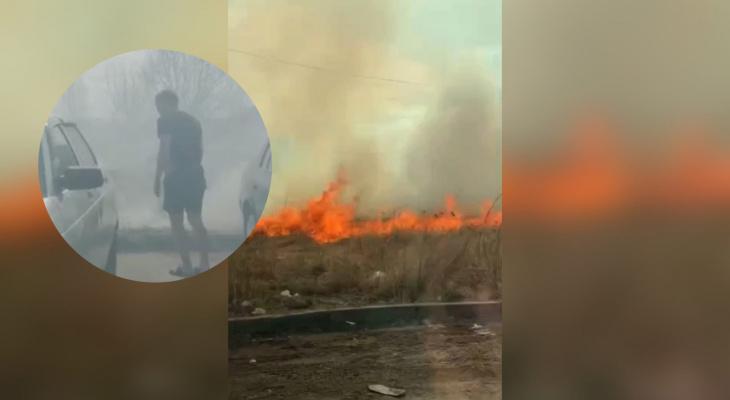 Машины в огне: ярославцы сами тушили масштабный пожар в Брагино. Видео