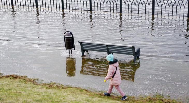 В Ярославской области набережная полностью ушла под воду