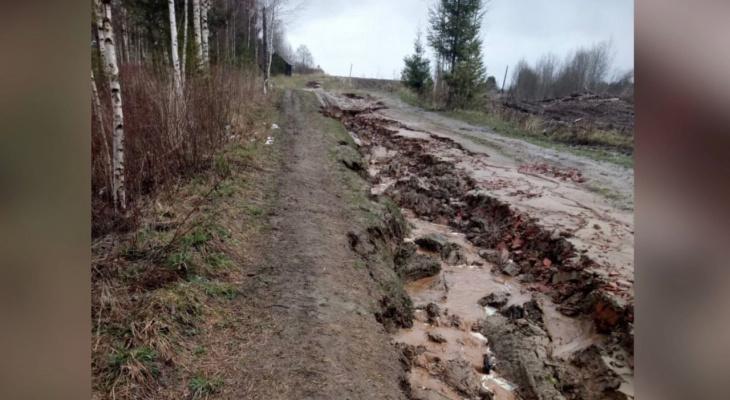 """""""Нужно покупать вертолет, чтобы попасть домой"""": под Ярославлем смыло единственную дорогу в деревню"""